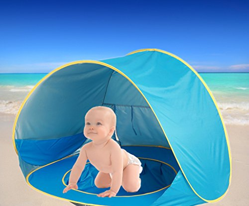 LEBE Baby Beach Tent,Portable Infant Baby Pop Up Pool with Sun Shade for Kids UV Protection Sun...