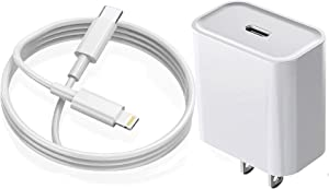 iPhone Fast Charger,DAZHWA Wall Charger iPhone 13 12 Super Fast Charging 20W PD Adapter with 6FT Type-C Lightning Cable Compatible with iPhone 13 12 Pro Max/11 Pro Max/Xs Max/XR/X/8 Plus and More
