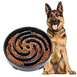 JASGOOD Slow Feeder Dogs Bowl for Large Dogs,Anti-Gulping Pet Slower...