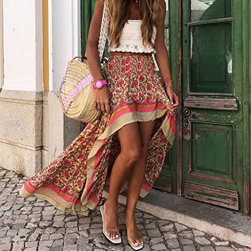 Fcostume Falda de Tul asimétrica para Mujer, Parte Delantera Corta y Trasera Larga, Falda para Bodas, espectáculos, Baile, Noche