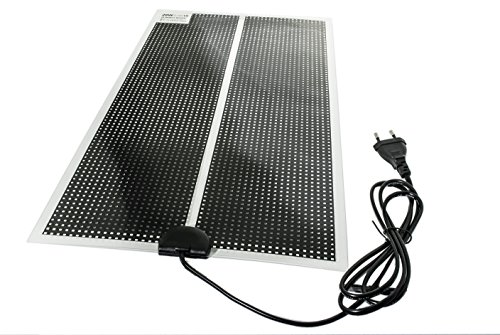 TropicShop Heizmatte BZW. Wärmematte ultraflache fürs Terrarium - mit 150cm Stromzuleitung mit EU Stecker 230V (28w mit 53x28cm)