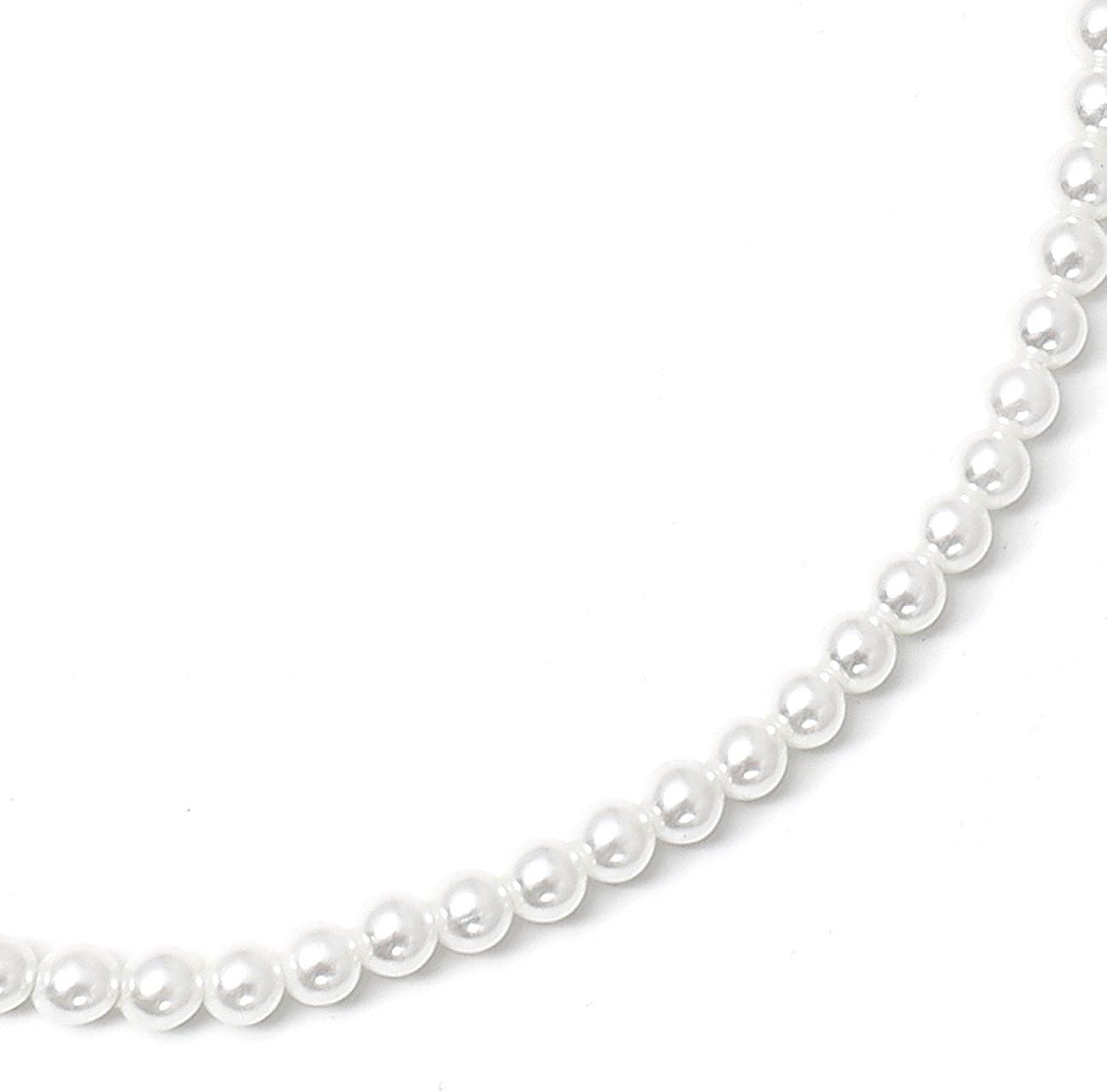 Topwholesalejewel White Pearl Single Row Strand Necklace