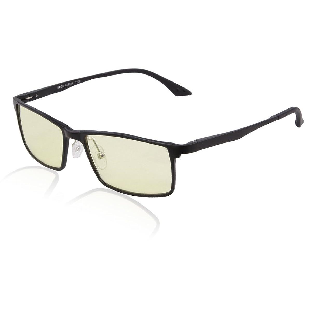 DUCO Optiks Full Rim Video Computer Gaming Glasses with Amber Lens Tint 2895