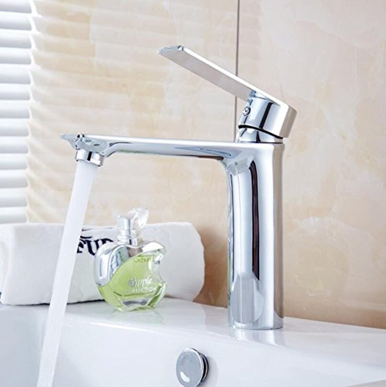 Decorry Bathroom Basin Faucet Brass Body tap New Luxury Single Handle hot and Cold tap B0909