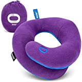 BCOZZY Kids Travel Neck Pillow- Head, Neck and Chin Support for Car Seat, Stops The Head from Falling Forward, Soft, Washable, for Toddlers and Kids 3-7 Years, Purple
