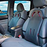 BackShield - Ergonomic Back Support for Car Seats Designed for Lower Back Pain, Sciatica Relief, Lumbar Cushion to Improve Posture, Portable Back Support for Home Office/Desk Chairs, RV, Truck Drivers (Black)