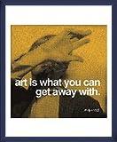 ポスター アンディ ウォーホル 芸術とは逃げ込むことができるものである 額装品 ウッドベーシックフレーム(ブルー)