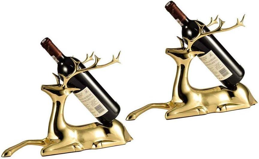 Max 63% OFF zlw-shop Single Bottle Wine Rack Selling rankings Deer Copper Holder Storage