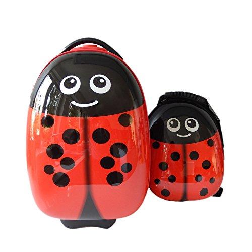 FERGÉ 1 Trolley per bambini e 1 zaino Child-Trolley&Backpack - valigia per bambini valigia con ruote, dimensioni bagaglio a mano