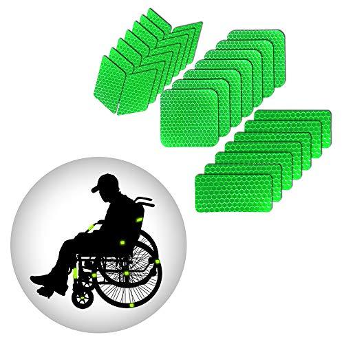 Muchkey reflektierende Aufkleber Wasserdicht Selbstklebende Leuchtaufkleber Warnschutz-Band-Aufkleber der hohen Sichtbarkeit für Roller Skates Fahrrad Motorrad Kinderwagen DIY Dekoration Grün