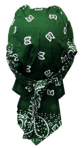 Black-tribal Bandana Militaire préformé 100% Coton Moto Paintball Foot Dessin Paisley Vert