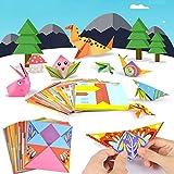 WWWL Origami 108Pcs/Lot Niños Origami Libro de Papel para Patrón Animal 3D Rompecabezas DIY Plegable Juguete Niños Hechos a Mano Kindergarten Artes Crafts Juguetes AnimalStyle