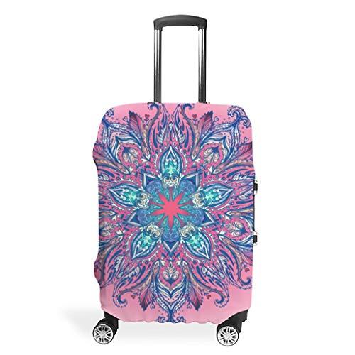 Mandala indio rojo Hippie maletas cubiertas protección cubierta para equipaje resistente al desgaste maleta cubierta de viaje