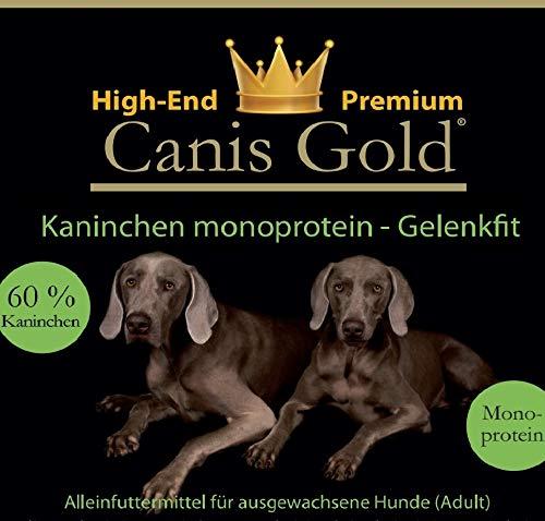 Canis Gold 5 kg Adult 60% Conejos | monopro calcárea | getreidefreies Super Premium Perros trockenfutter