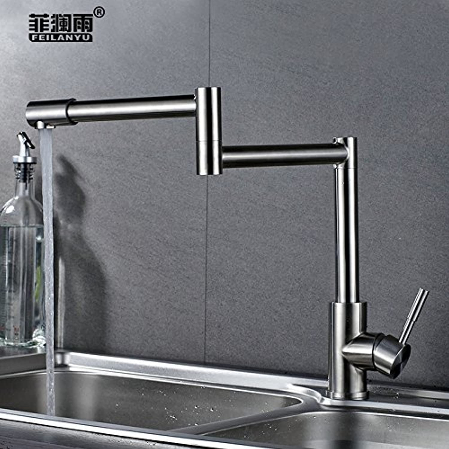 Gyps Faucet Waterfall for Cold Water and Hot Water Tap Bathroom Stainless Steel 304 Sink and Tap Cold Water for Washing Plates Folding Pool Can Be redated PE