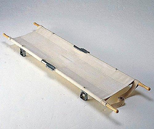 松永製作所 四ツ折担架 把手固定式 スチ-ル製 580×2040mm 8.1kg 把手固定式 スチール製