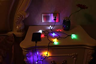 Brogrous USB Christmas Light Phone Charger Cord USB and Bulb Charging Cable 50inch 10LED Bulb Compatible with Type-C