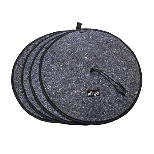 Kurgo Seasonal Tire Tote   Wheel Felts   Spare Tire Cover   Portable Wheel Bags   Winter Tire Cover   Eco-Friendly Tire Totes   Handle for Easy Transportation   Universal Fit , Regular - K00037