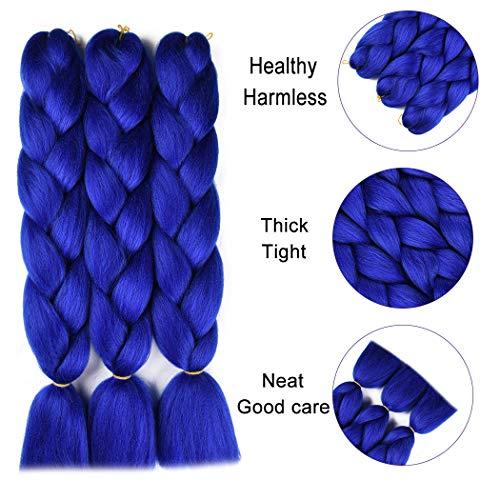 Blue kanekalon hair