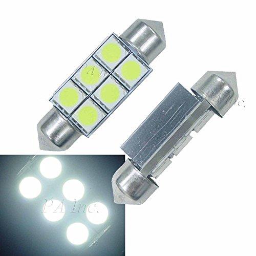 PA 2 x Festoon Voiture Intérieur 36 mm C5 W Sv8,5, Blanc LED Blanc erreur gratuit CANBUS ampoules