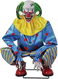 Seasonal Visions Animated Crouching Clown Prop