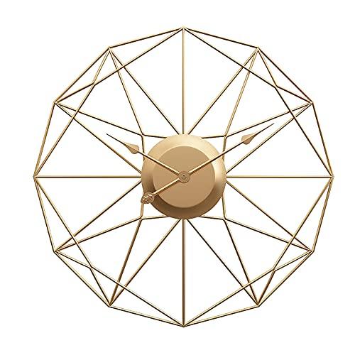 WANGFENG Reloj de Pared artístico con Forma Especial, Reloj de decoración para Sala de Estar, Reloj Simple de Estilo nórdico, Reloj de Pared Creativo de Metal para el hogar