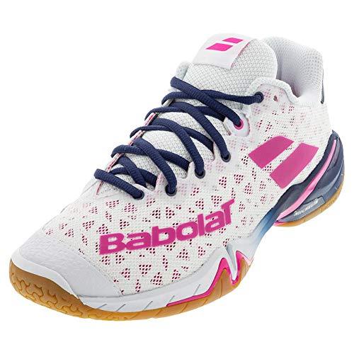 Babolat Damen Shadow Tour Women Tennisschuhe, White/Rhodamine Red, 41 EU