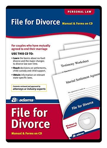 Arquivo Adams para CD de Divórcio, Manual e Formulários em CD (ALC601)
