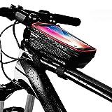 MYSBIKER Fahrrad Rahmentasche Wasserdicht Handytasche,Fahrrad Zubehör Handyhalterung Fahrradtasche Oberrohrtasche Handytasche Touchscreen Fahrrad Handyhalter für Smartphones bis 6.5 Zoll…