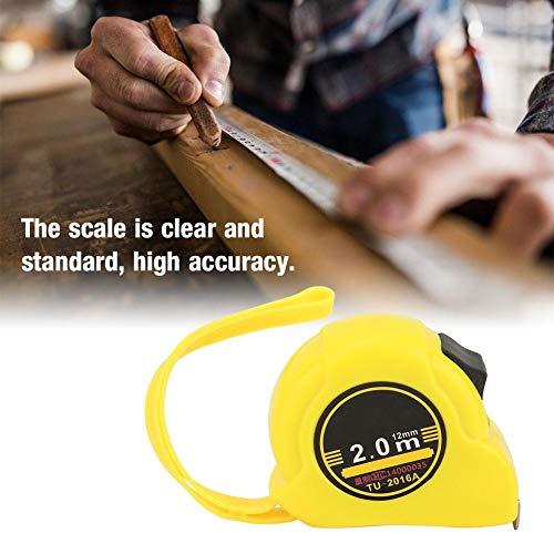 2.0m roestvrijstalen meetlint, intrekbaar meetlint, flexibele liniaal intrekbaar houtbewerkingsmeetgereedschap, ergonomisch ontwerp, de schaal is duidelijk en standaard, hoge nauwkeurigheid