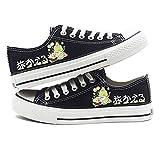 jiushice Animal Print Anime Cosplay Shoes Zapatillas de Lona, Zapatillas de Lona Unisex-High Low Top Zapatillas con Cordones Zapatillas Planas