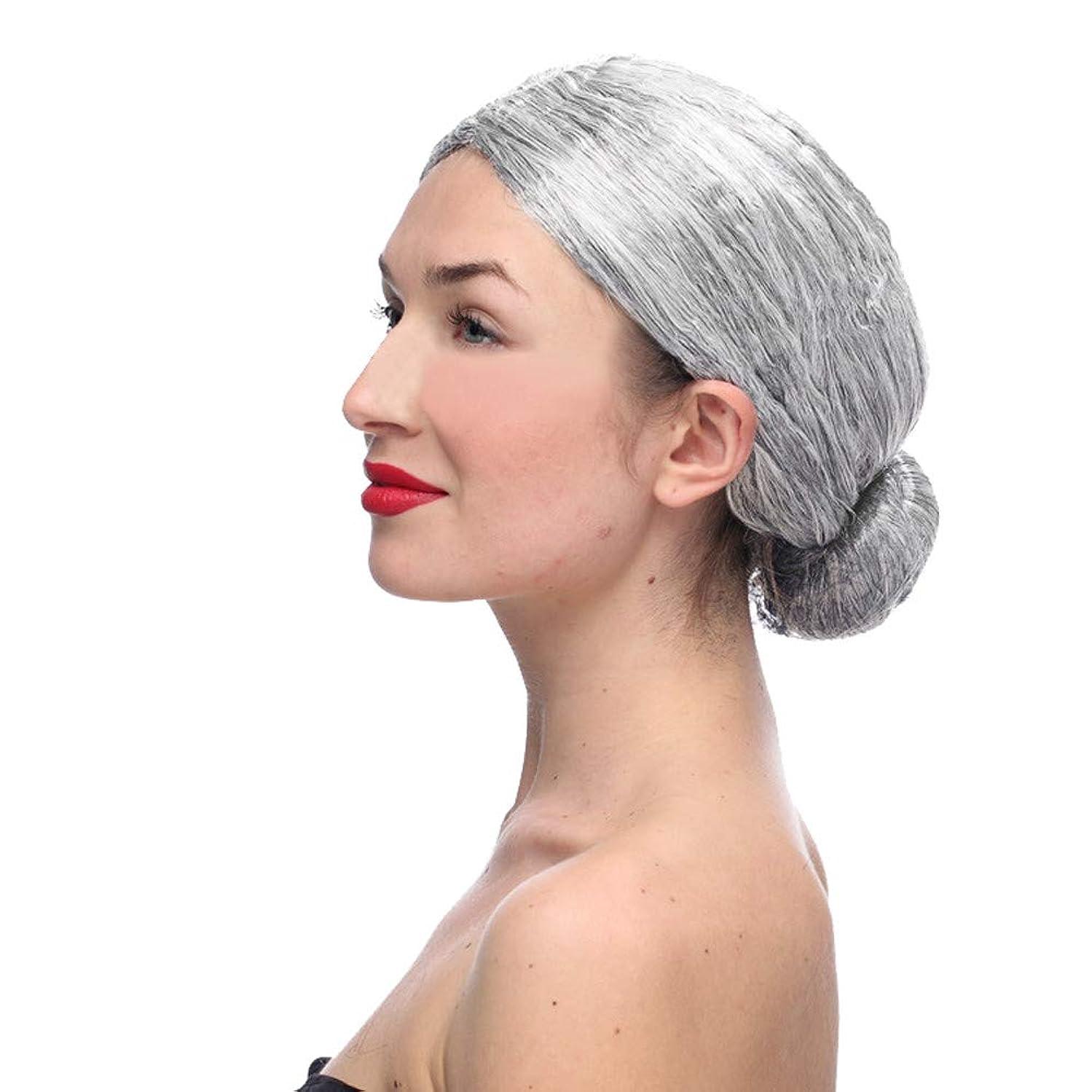 液化する会話ただかつらおばあちゃん灰色かつらCOS小道具かつら
