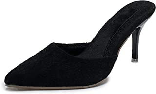 Hopestar High Heels Slippers, Women's Stiletto Pumps Mules