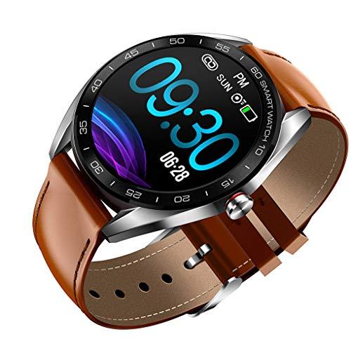 Shangjunol Montre cardiofréquencemètre Bluetooth 4.0 Wristband IP68 Ronde Pression artérielle Waterproof Dial Sport Affaires Wristwatch