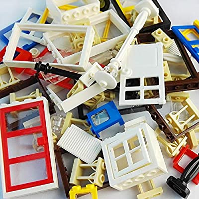 Taken All 82 Piece Windows & Doors & Fences Sets Building Block Toy -Compatible Major Brands Children Gifts from Taken All
