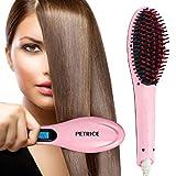 PETRICE Deluxe Hair Straightener Brush Women's Electric Comb Brush Ceramic Fast Hair Straightening