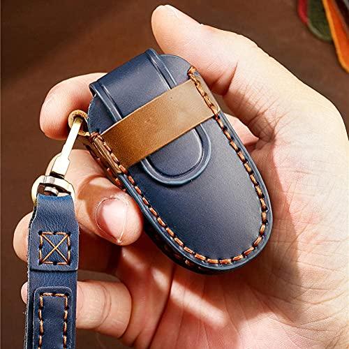 RTDFGH Cubierta De La Llave del Coche Funda De Cuero para Llaves De Coche, Apta para Tesla Model X Key Case Car Styling Smart Keys Keychain