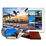 DA CHOCOLATE キャンディスーベニア シンガポール チョコレートギフトセット 13x13cm 1箱 (日没)