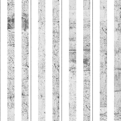 murando - PURO TAPETE - Realistische Tapete ohne Rapport und Versatz 10m Vlies Tapetenrolle Wandtapete modern design Fototapete - Streifen weiß Beton f-C-0019-j-b