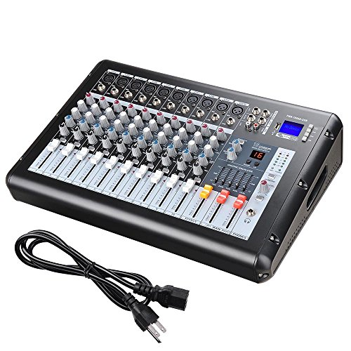 """AW 10 Channel Professional Powered Mixer with USB Slot DJ Power Mixing 110V 18.9""""x13.2""""x5.3"""""""