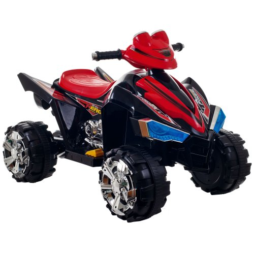 Ride On Toy Quad, Battery Powered Ride On Toy ATV Four Wheeler With Sound Effects by Lil' Rider – Toys for Boys and Girls, 2 - 5 Year Olds (Black), 80-CH917