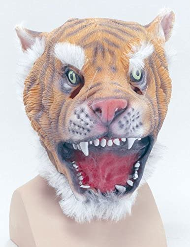 marca Rubber Rubber Rubber Tiger Overhead Mask by fancy dress warehouse  con 60% de descuento