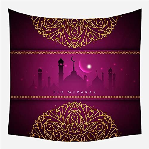 KHKJ Tapiz de Ramadán para Colgar en la Pared, Manta de Viaje, Toalla de Playa, servilleta Salvaje, nuevos tapices de Pared Decorativos de Granja Moderna A5 150x130cm