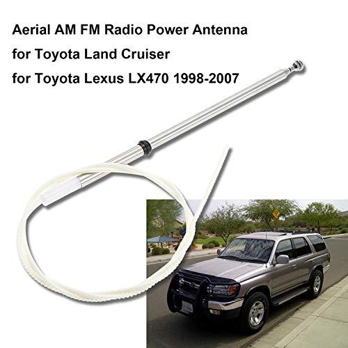 MOLEAQI Mástil de Antena de Radio Am/FM de Repuesto para Coche para T-oyota Land Cruiser/Lexus LX470 1998-2007