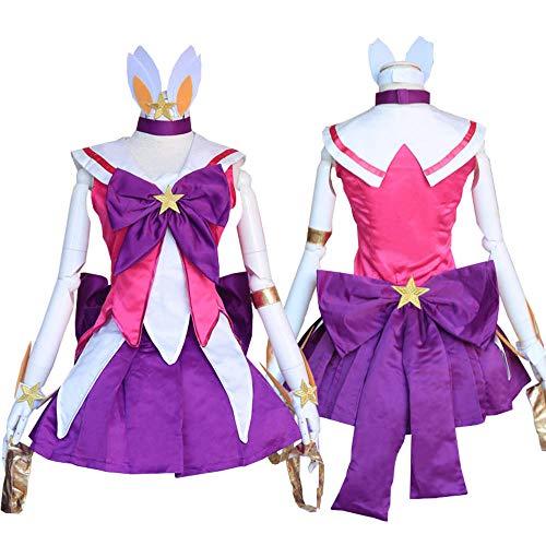 LOL Star Guardian Lux Cosplay disfraz Cute Girls The Lady Of Luminosity Lux Cosplay uniforme Magic Girl Dress conjunto completo peluca rosa