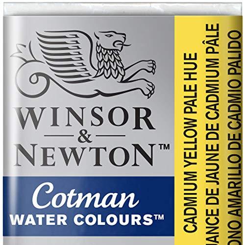 Winsor & Newton Cotman Acuarela En Pastilla, Tono Amarillo De Cadmio Palido, 1,9x1,6x1,1 cm