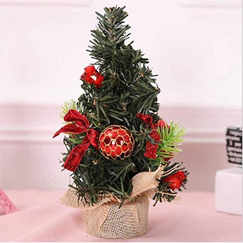 SHJIA Árbol De Navidad Año Nuevo del Árbol De Navidad Pequeño Escritorio De Pino Decoración Navideña 3Pcs