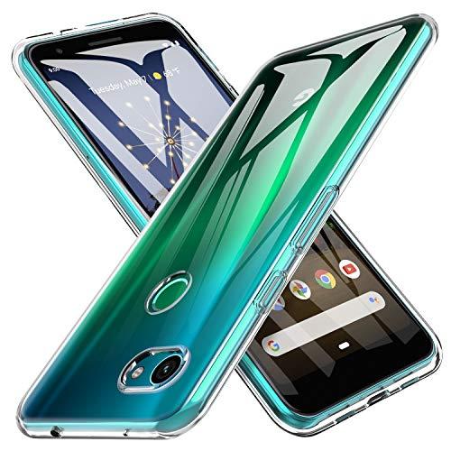 iBetter para Funda Google Pixel 3a XL Funda, TPU con Superficie Mate Silicona Fundas para Google Pixel 3a XL Smartphone.Transparente