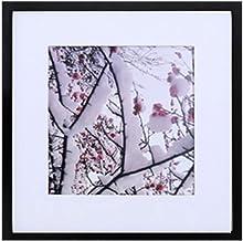 إطار ملصق بسيط 12 × 12 بوصة مربع الإطار، عرض صورة 8 × 8 مع لوحة صورة، صورة أو ملصق، أو صورة أو إطار فني بعرض 3/4 بوصة، خشب...