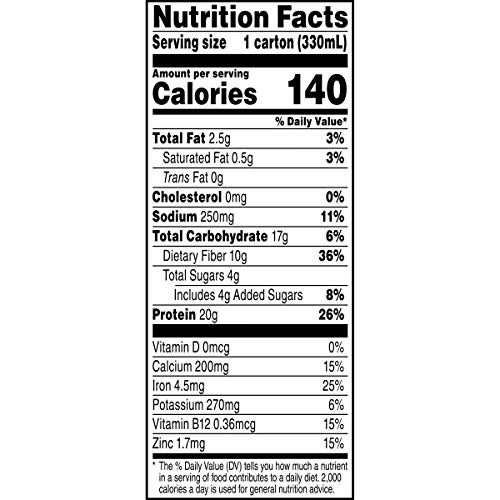 Evolve Plant Based Protein Shake, Double Chocolate, 20g Vegan Protein, Dairy Free, No Artificial Sweeteners, Non-GMO, 10g Fiber, 11oz, (12 Pack) (Formula May Vary)